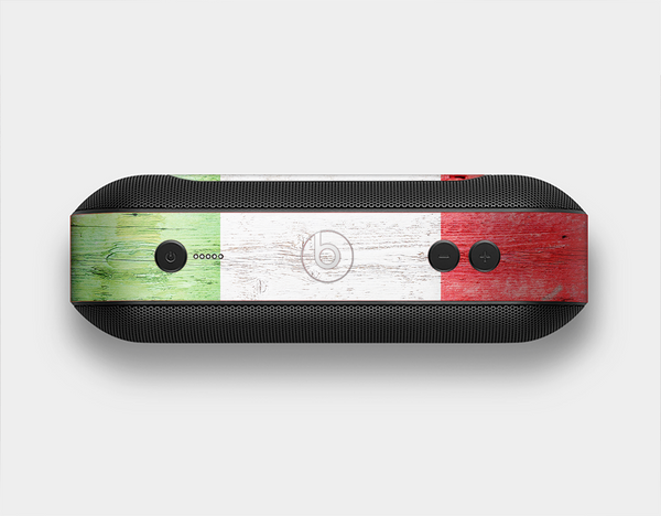 The Green, White and Red Flag Wood Skin Set for the Beats Pill Plus