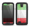 The Green, White and Red Flag Wood Samsung Galaxy S4 LifeProof Nuud Case Skin Set