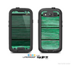 The Green Wide Wood Planks Skin For The Samsung Galaxy S3 LifeProof Case