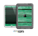 The Green Wide Wood Planks Skin for the Apple iPad Mini LifeProof Case