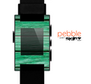 The Green Wide Wood Planks Skin for the Pebble SmartWatch