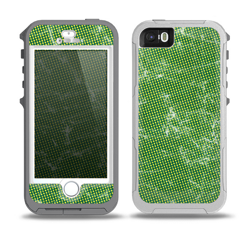 The Green & Yellow Mesh Skin for the iPhone 5-5s OtterBox Preserver WaterProof Case
