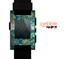 The Green & Gold Lace Pattern Skin for the Pebble SmartWatch