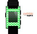 The Green & White Chevron Pattern Skin for the Pebble SmartWatch