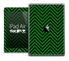 The Green and Black Sharp Chevron Pattern Skin for the iPad Air