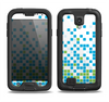 The Green and Blue Mosaic Pattern Samsung Galaxy S4 LifeProof Nuud Case Skin Set