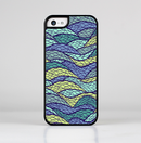 The Green and Blue Stain Glass Skin-Sert for the Apple iPhone 5c Skin-Sert Case