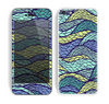 The Green and Blue Stain Glass Skin for the Apple iPhone 5c