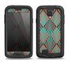 The Green and Brown Diamond Pattern Samsung Galaxy S4 LifeProof Nuud Case Skin Set