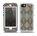 The Green and Brown Diamond Pattern Skin for the iPhone 5-5s OtterBox Preserver WaterProof Case.png
