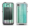 The Green and Purple Dyed Textile Apple iPhone 4-4s LifeProof Fre Case Skin Set