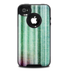 The Green and Purple Dyed Textile Skin for the iPhone 4-4s OtterBox Commuter Case