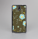 The Green and Subtle Blue Floral Pattern Skin-Sert Case for the Samsung Galaxy Note 3
