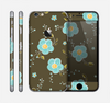 The Green and Subtle Blue Floral Pattern Skin for the Apple iPhone 6
