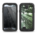 The Green and White Light Arrays with Glowing Vines Samsung Galaxy S4 LifeProof Fre Case Skin Set