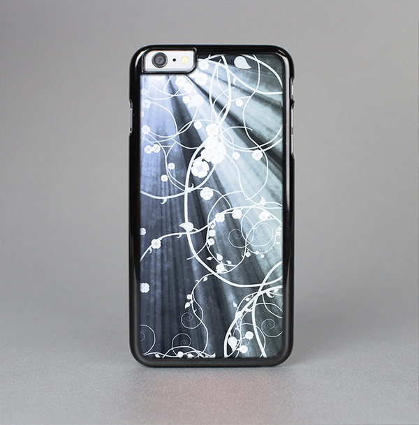 The Green and White Light Arrays with Glowing Vines Skin-Sert Case for the Apple iPhone 6 Plus