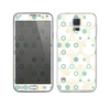The Green and Yellow Layered Vintage Hexagons Skin For the Samsung Galaxy S5