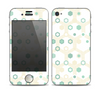 The Green and Yellow Layered Vintage Hexagons Skin for the Apple iPhone 4-4s