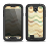 The Green and Yellow Wave Pattern v3 Samsung Galaxy S4 LifeProof Fre Case Skin Set