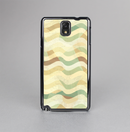 The Green and Yellow Wave Pattern v3 Skin-Sert Case for the Samsung Galaxy Note 3