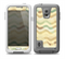 The Green and Yellow Wave Pattern v3 Skin for the Samsung Galaxy S5 frē LifeProof Case