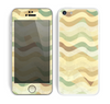 The Green and Yellow Wave Pattern v3 Skin for the Apple iPhone 5c
