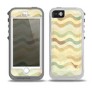 The Green and Yellow Wave Pattern v3 Skin for the iPhone 5-5s OtterBox Preserver WaterProof Case