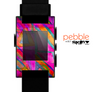 The Grunge Abstarct Pink Painted Shapes Skin for the Pebble SmartWatch