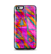 The Grunge Abstract Pink Painted Shapes Apple iPhone 6 Plus Otterbox Symmetry Case Skin Set