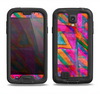 The Grunge Abstract Pink Painted Shapes Samsung Galaxy S4 LifeProof Nuud Case Skin Set