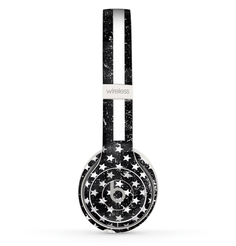 16dd32564bf The Grunge Black and White American Flag Skin Set for the Beats by Dre -  DesignSkinz
