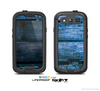 The Grunge Blue Wood Planks Skin For The Samsung Galaxy S3 LifeProof Case