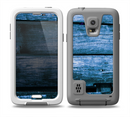 The Grunge Blue Wood Planks Skin for the Samsung Galaxy S5 frē LifeProof Case