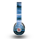 The Grunge Blue Wood Planks Skin for the Beats by Dre Original Solo-Solo HD Headphones