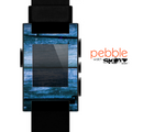 The Grunge Blue Wood Planks Skin for the Pebble SmartWatch