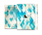 The Grunge Blue and Yellow Diamonds Panel Full Body Skin Set for the Apple iPad Mini 3