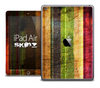 The Grunge Color Wood Skin for the iPad Air