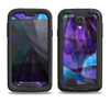 The Grunge Dark Blue Painted Overlay Samsung Galaxy S4 LifeProof Fre Case Skin Set