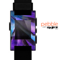 The Grunge Dark Blue Painted Overlay Skin for the Pebble SmartWatch