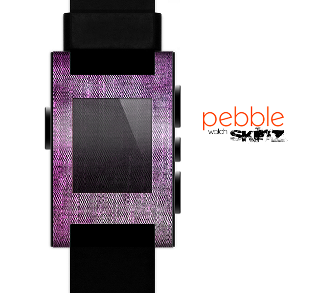 The Grunge Dark Pink Texture Skin for the Pebble SmartWatch
