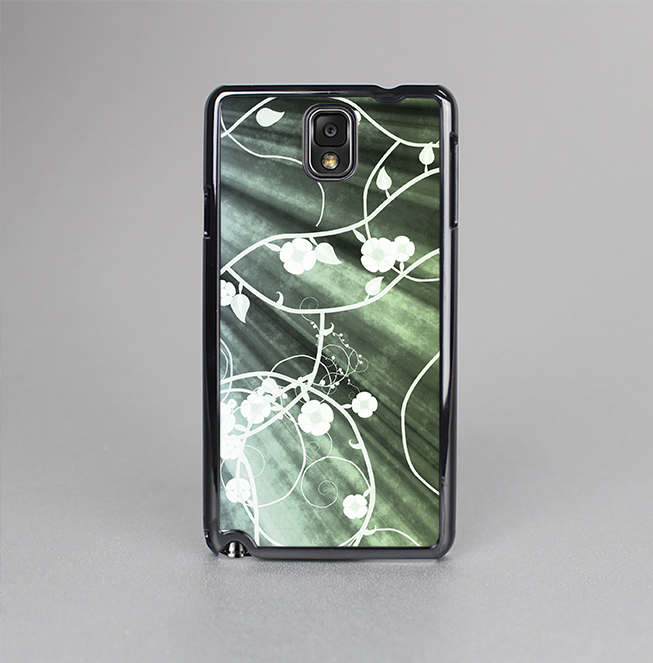 The Grunge Green Rays of Light with Glowing Vine Skin-Sert Case for the Samsung Galaxy Note 3