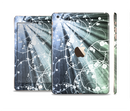 The Grunge Green Rays of Light with Glowing Vine Full Body Skin Set for the Apple iPad Mini 3