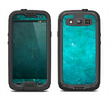 The Grunge Green Textured Surface Samsung Galaxy S3 LifeProof Fre Case Skin Set