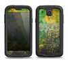 The Grunge Green & Yellow Surface Samsung Galaxy S4 LifeProof Fre Case Skin Set