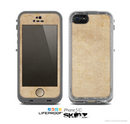 The Grunge Tan Surface Skin for the Apple iPhone 5c LifeProof Case