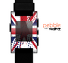 The Grunge Vector London England Flag Skin for the Pebble SmartWatch