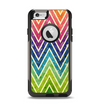 The Grunge Vibrant Green and Neon Chevron Pattern Apple iPhone 6 Otterbox Commuter Case Skin Set