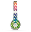 The Grunge Vibrant Green and Neon Chevron Pattern Skin for the Beats by Dre Solo 2 Headphones
