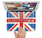 "The Grunge Vintage Textured London England Flag Skin Set for the Apple MacBook Pro 15"" with Retina Display"