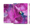 The Grunge Watercolor Pink Strokes Full Body Skin Set for the Apple iPad Mini 3